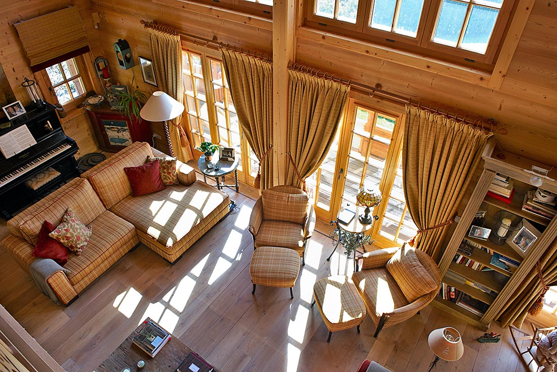 Interior decoration for a warmly welcoming chalet viquerat